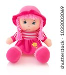 Pink Plushie Doll Isolated On...