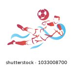 passionate professional soccer... | Shutterstock .eps vector #1033008700