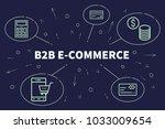 conceptual business... | Shutterstock . vector #1033009654