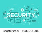 security word surrounded by...   Shutterstock .eps vector #1033011208