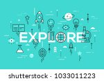 explore word surrounded by... | Shutterstock .eps vector #1033011223