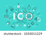 ico or initial coin offering... | Shutterstock .eps vector #1033011229