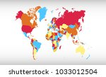 color world map vector   Shutterstock .eps vector #1033012504