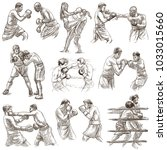 an hand drawn collection of... | Shutterstock . vector #1033015660