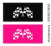 banner design with checkered... | Shutterstock .eps vector #1033015810