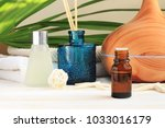 aromatherapy set. essential oil ... | Shutterstock . vector #1033016179