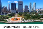 downtown miami  florida.... | Shutterstock . vector #1033016548