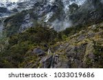 scenery at milford sound  south ... | Shutterstock . vector #1033019686