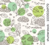 seamless pattern with yerba... | Shutterstock .eps vector #1033026970