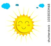 sun face cloud vector icon for... | Shutterstock .eps vector #1033033468