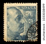 spain   circa 1940  a stamp... | Shutterstock . vector #1033038499