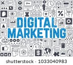 digital marketing   hand drawn... | Shutterstock .eps vector #1033040983