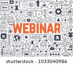 webinar   hand drawn vector... | Shutterstock .eps vector #1033040986