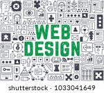 web design   hand drawn vector... | Shutterstock .eps vector #1033041649