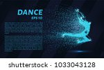 dance of the particles. girl in ... | Shutterstock .eps vector #1033043128
