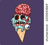 Zombie Ice Cream With Brain An...