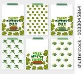 set of six st. patricks day... | Shutterstock .eps vector #1033045864