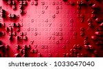 abstract numbers random motion  ... | Shutterstock . vector #1033047040