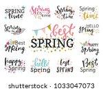hello spring time vector... | Shutterstock .eps vector #1033047073