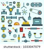 machine parts vector... | Shutterstock .eps vector #1033047079