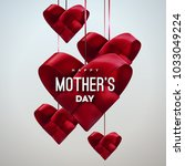 happy mothers day. vector... | Shutterstock .eps vector #1033049224