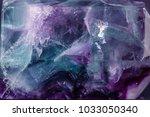 macro mineral stone fluorite... | Shutterstock . vector #1033050340