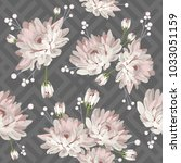 floral seamless pattern.... | Shutterstock .eps vector #1033051159