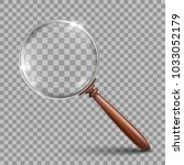 realistic magnifying glass with ... | Shutterstock .eps vector #1033052179