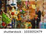 detail of indian hanging... | Shutterstock . vector #1033052479