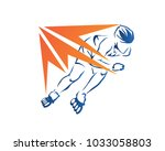 passionate professional in line ...   Shutterstock .eps vector #1033058803