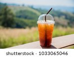 lemon ice tea glass | Shutterstock . vector #1033065046