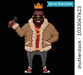 pixel art   rapper and swag... | Shutterstock .eps vector #1033067623