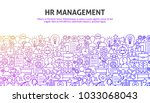 hr management concept. vector... | Shutterstock .eps vector #1033068043