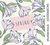 Spring Floral Background With...