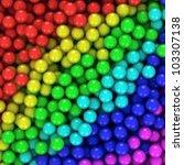 Heap of multicolored balls, three-dimensional computer graphic. - stock photo