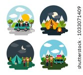 collection vacations scenes...   Shutterstock .eps vector #1033071409