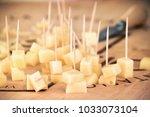 tasting of italian cheese ... | Shutterstock . vector #1033073104