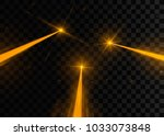 set of abstract yellow laser... | Shutterstock .eps vector #1033073848