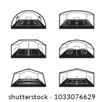 covered sports facilities  ... | Shutterstock .eps vector #1033076629