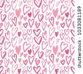 seamless hearts pattern. vector ... | Shutterstock .eps vector #1033081189