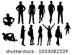 set silhouettes man and woman... | Shutterstock .eps vector #1033082539
