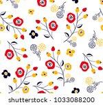 little flowers pattern with... | Shutterstock .eps vector #1033088200