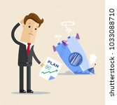 businessman with plan and... | Shutterstock .eps vector #1033088710