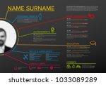 vector original minimalist cv   ... | Shutterstock .eps vector #1033089289