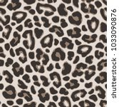 brown leopard or  jaguar... | Shutterstock .eps vector #1033090876