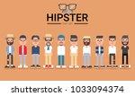hipster style  bearded  man ... | Shutterstock .eps vector #1033094374