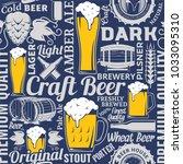 typographic vector beer... | Shutterstock .eps vector #1033095310