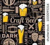 typographic vector beer... | Shutterstock .eps vector #1033095316