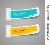 colorful label brush stroke ... | Shutterstock .eps vector #103309769