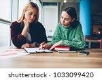 creative female students... | Shutterstock . vector #1033099420